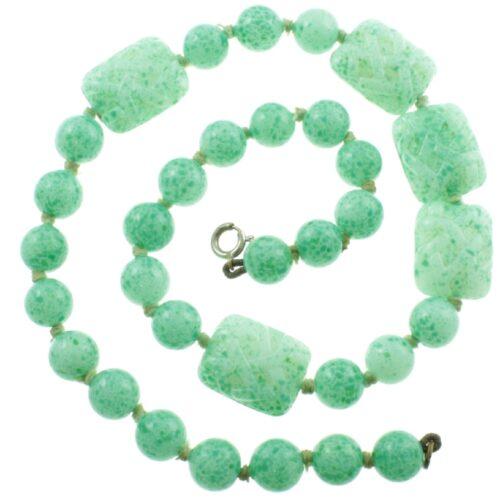 Art Deco Graduated Jade Necklace