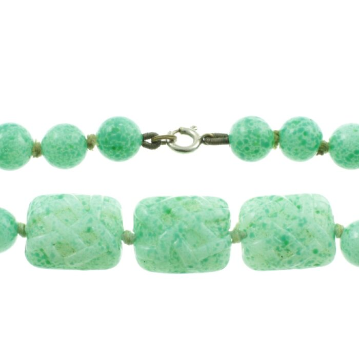Art Deco Graduated Jade Necklace