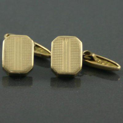 Art Deco Retractable toggle cufflinks