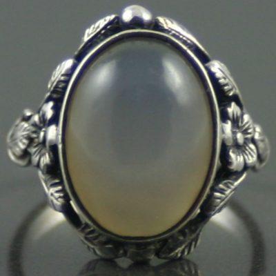 Art Nouveau Moonstone Silver Ring