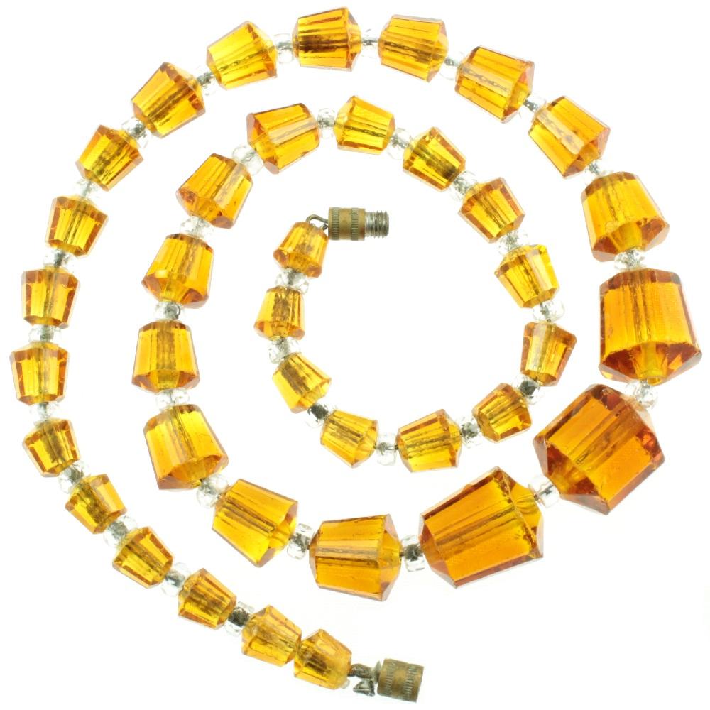 Czech Glass Bead Necklace