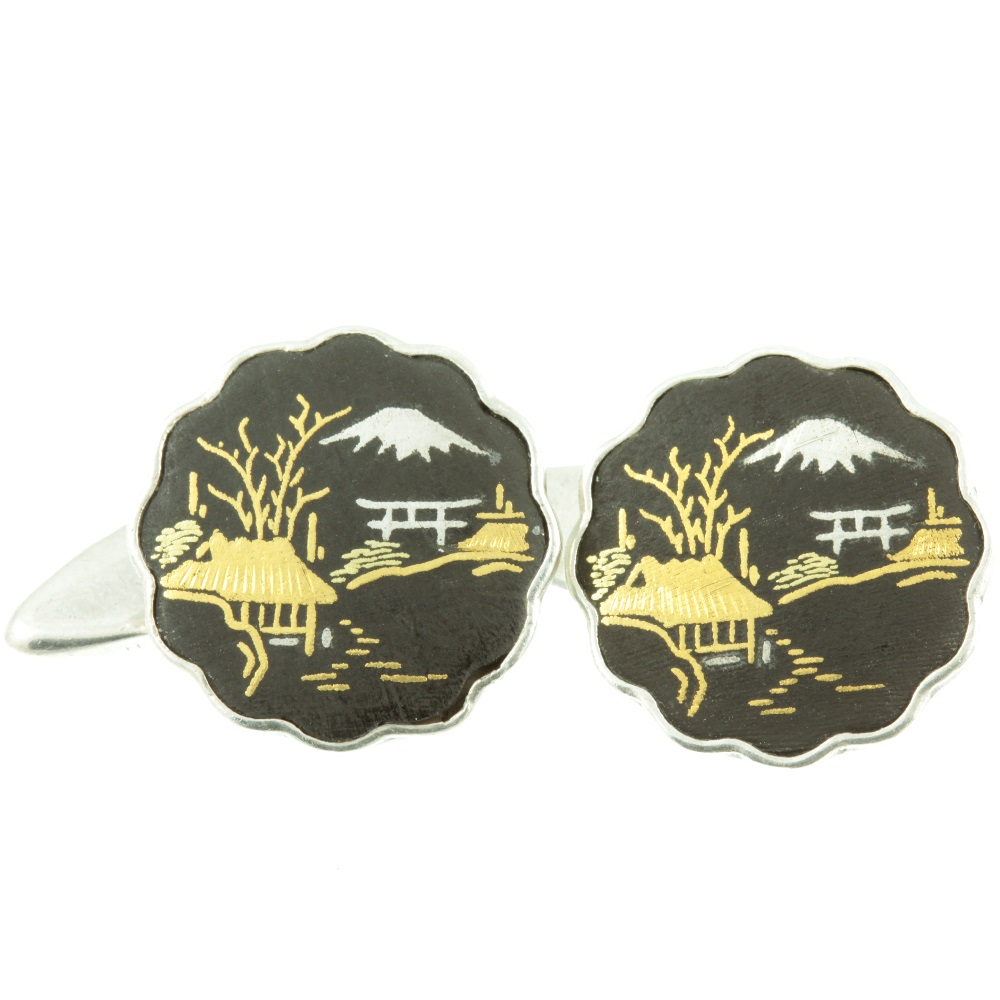 Japanese Damascene Cufflinks