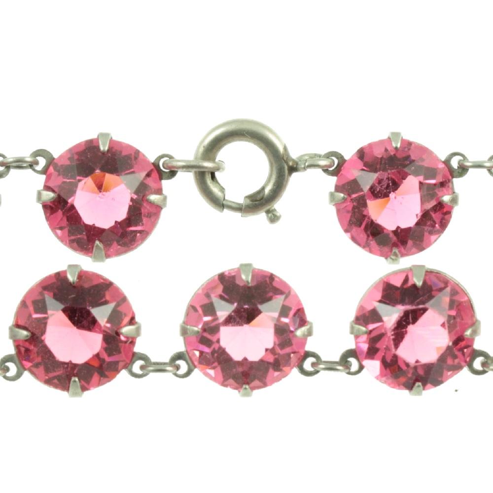 Pink Czech Crystal Necklace