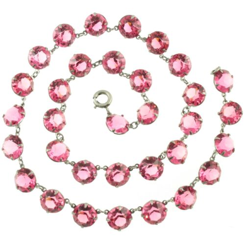 Pink Czech Crystal Necklace