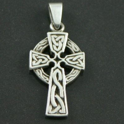 Silver Celtic cross charm