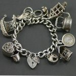 Silver charm bracelet 1950s