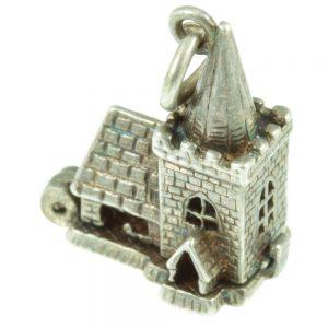 Silver Church Charm