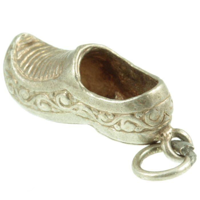 Silver Clog Charm