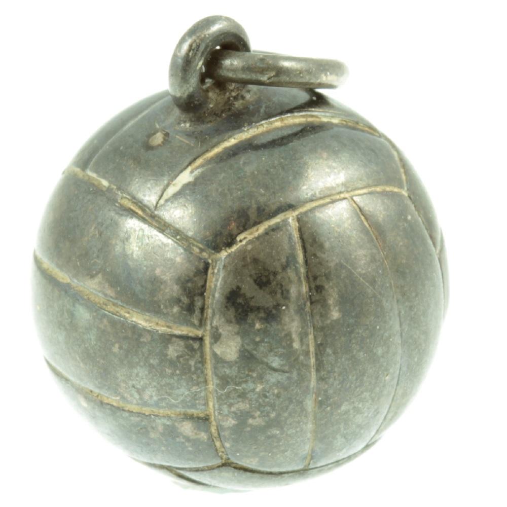 Silver football Charm