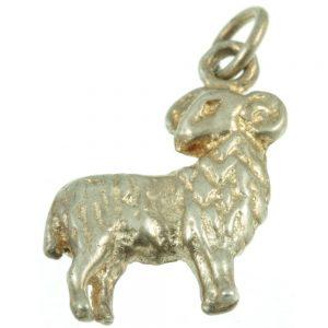 Silver Lamb Charm