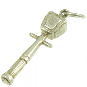 Silver Lamp Post Charm