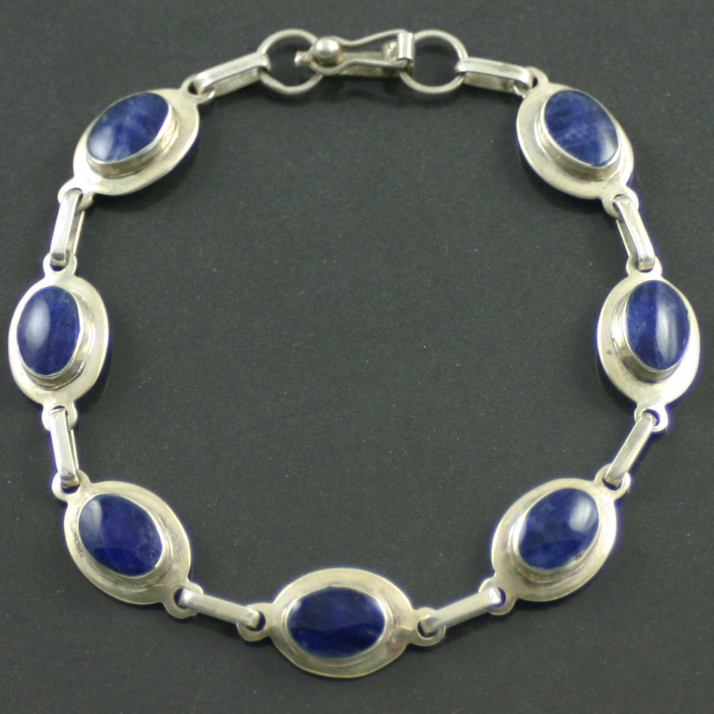 Silver Lapis Lazuli Bracelet circa 1960s