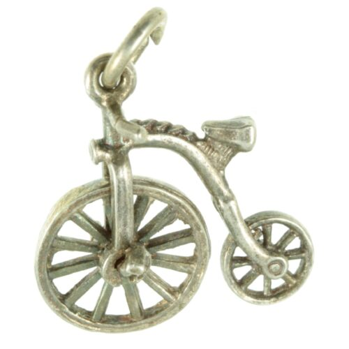 Silver Penny Farthing Charm