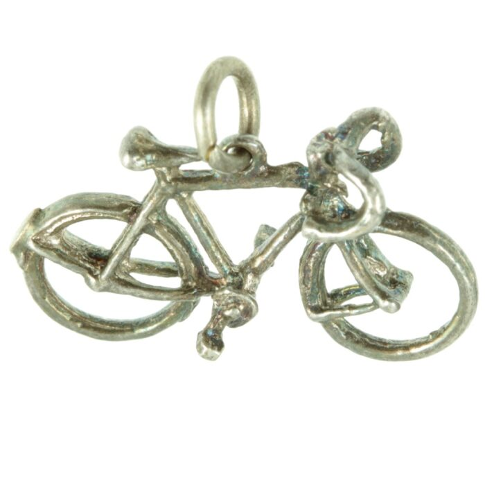 Silver Racing Bike Charm