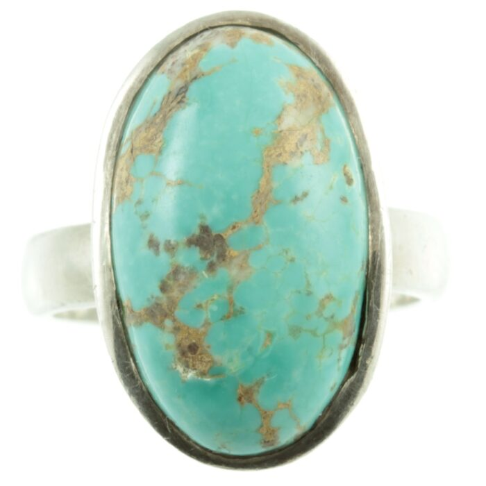 Sterling silver and turquoise ring - front view