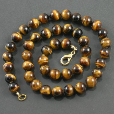 Tiger`s Eye Bead Necklace