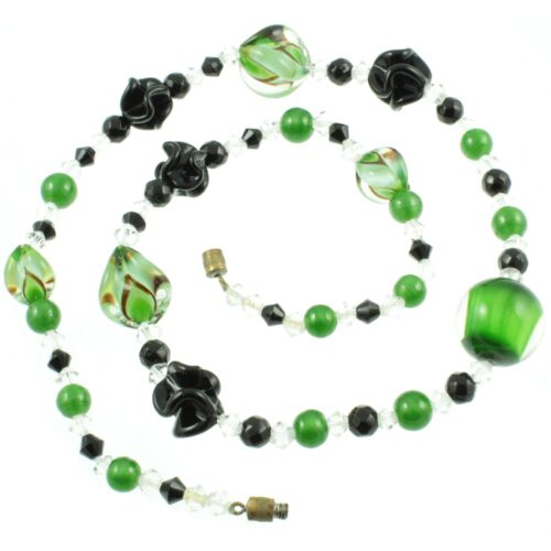 Venetian Art Glass Bead Necklace