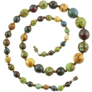Venetian Art Glass Bead Necklace