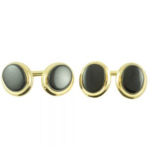 Vintage Black Onyx Cufflinks