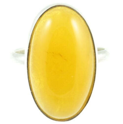 Yellow jasper Silver ring - front view