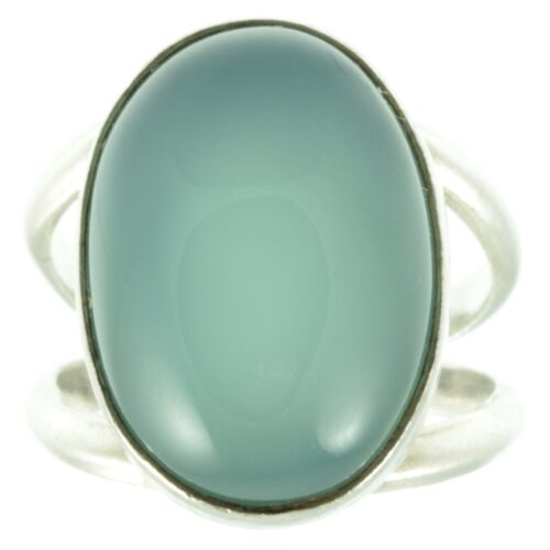 moonstone silver ring - front view