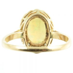 18ct gold opal and diamond ring - inside view
