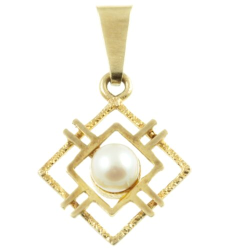 9ct Gold Pearl Pendant