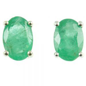 9ct gold Emerald stud earrings