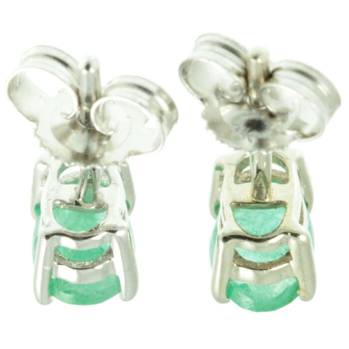 9ct gold Emerald stud earrings