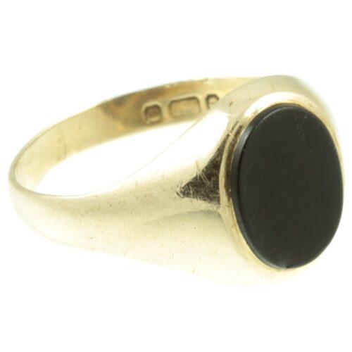 9ct gold onyx signet ring