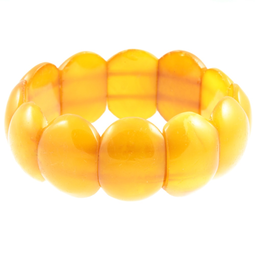Amber nugget stretch bracelet - side view