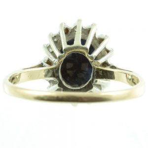 Art Deco Sapphire and Diamond ring - inside view