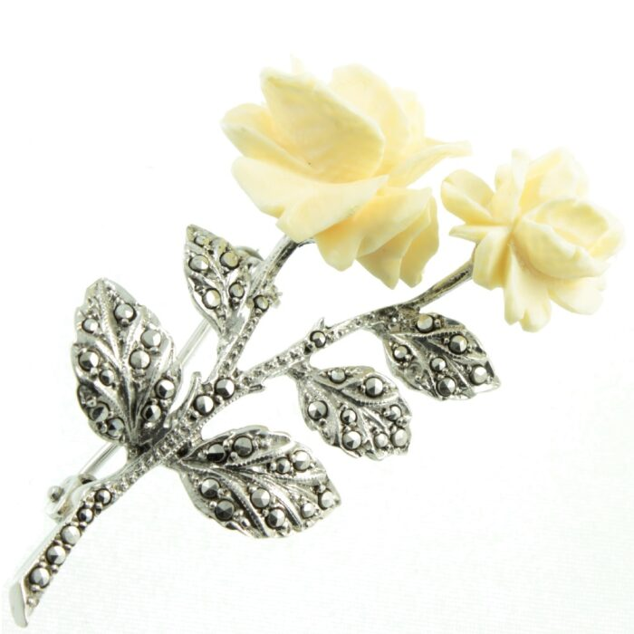Celluloid Flower Brooch