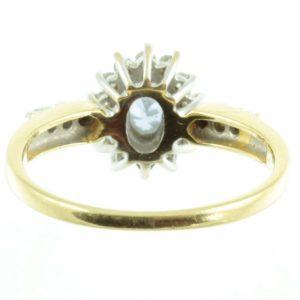 Ceylon Sapphire and diamond ring - inside view