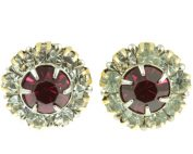 Red & White Paste Stud Earrings