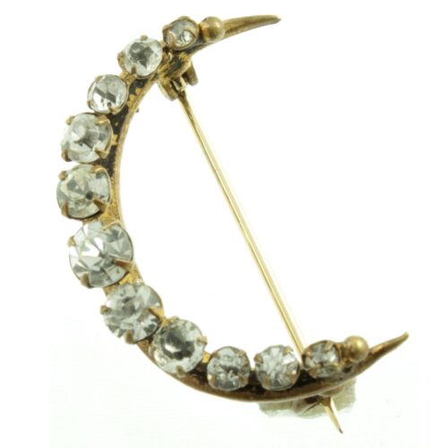 Victorian Crescent Moon Brooch