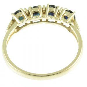 four stone sapphire and diamond ring -