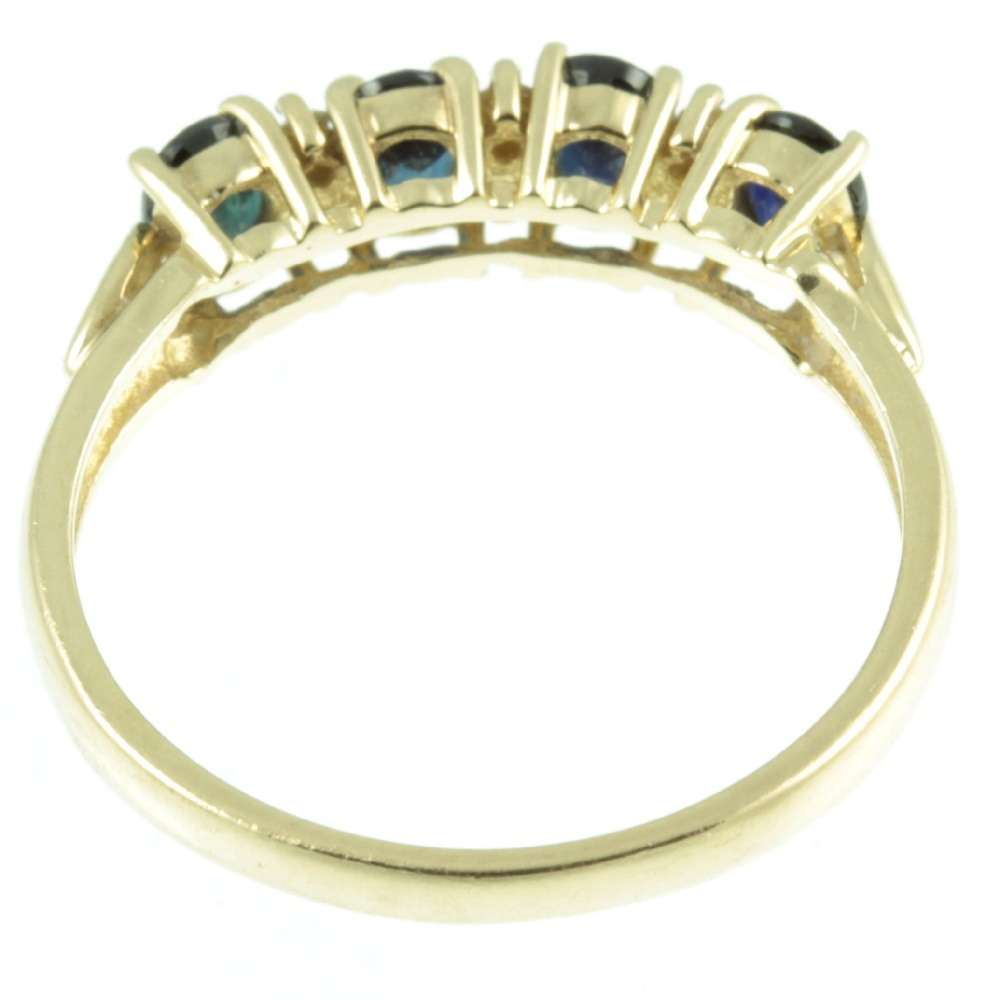 four stone sapphire and diamond ring -