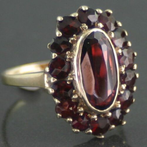 8 ct gold garnet dress ring