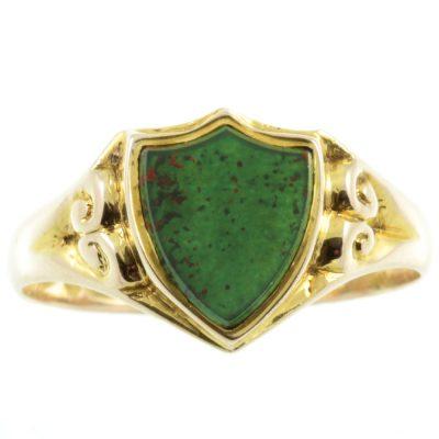 Edwardian Bloodstone Signet Ring