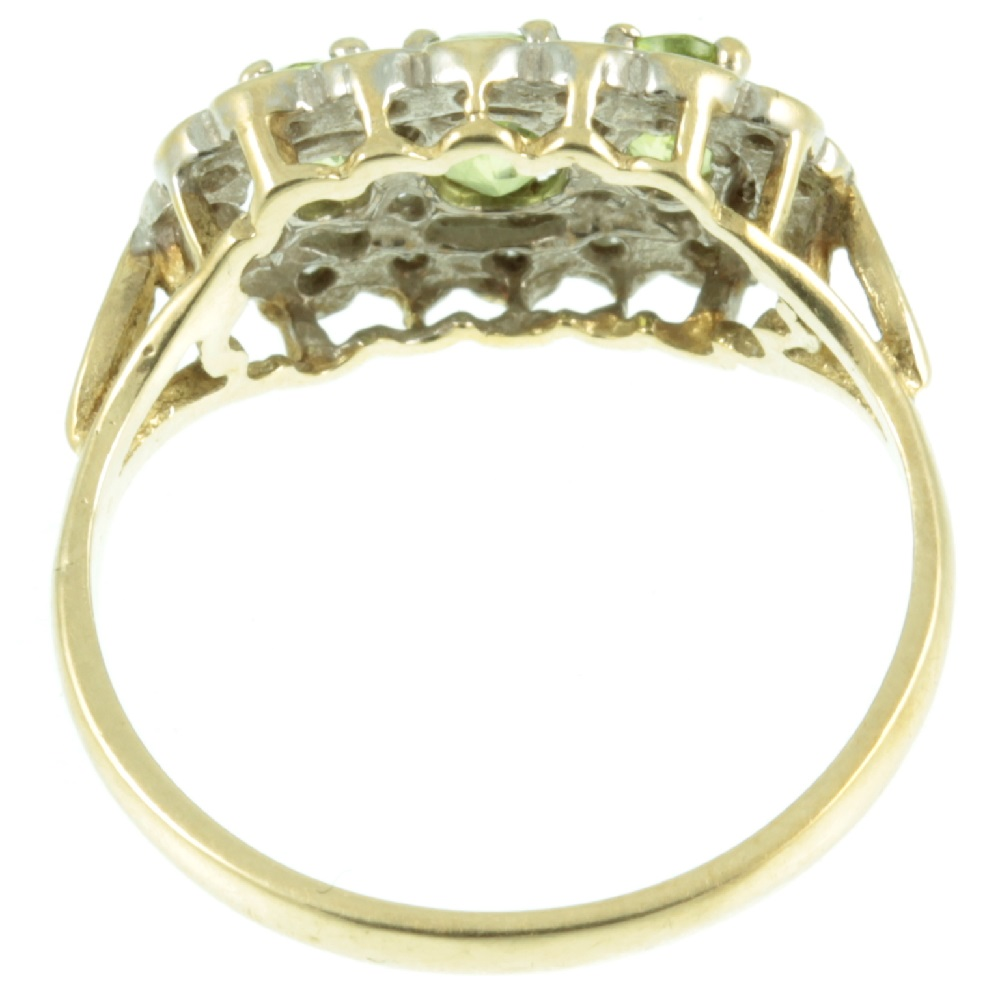 Inside view of victorian peridot and diamond ring