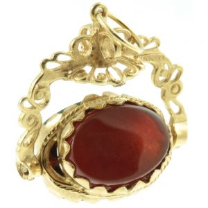 Victorian triple sided fob