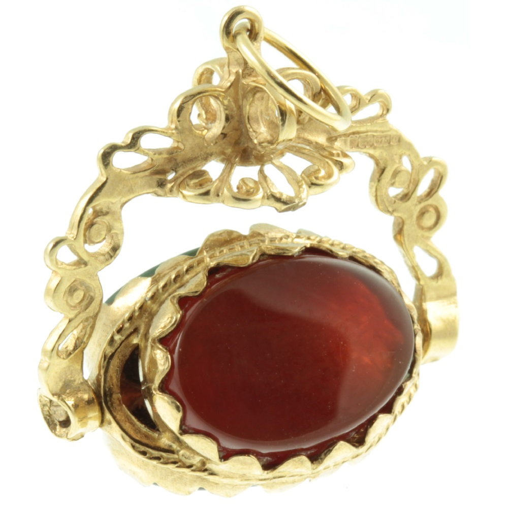 Victorian Triple Sided Fob Pendant