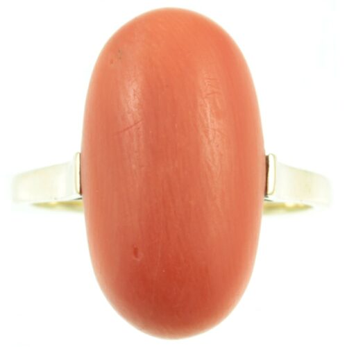14 ct gold coral ring