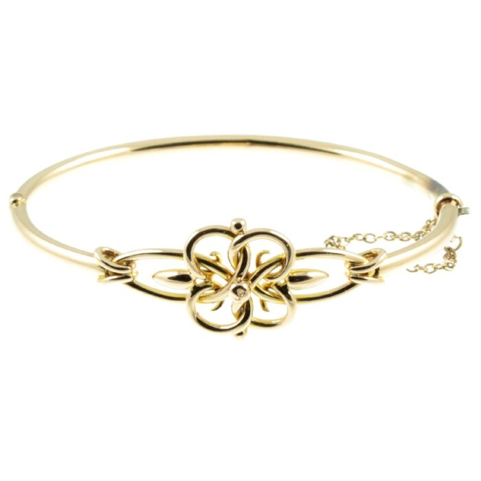 Edwardian 9ct Gold Bangle