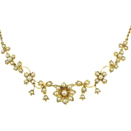 Edwardian Seed Pearl Necklace