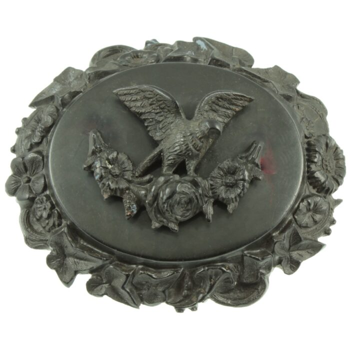 Victorian Whitby Jet Mourning Brooch