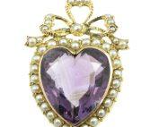Edwardian amethyst and split pearl pendant