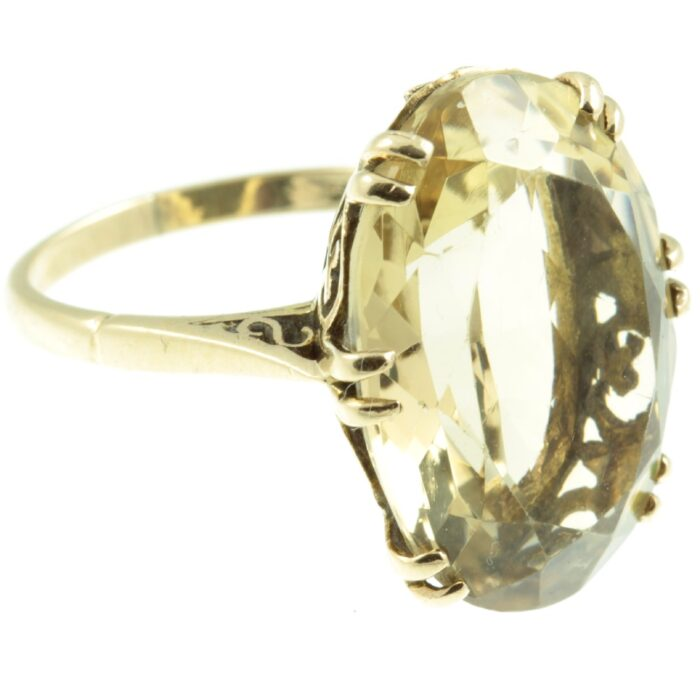 9ct Gold Citrine Cocktail Ring
