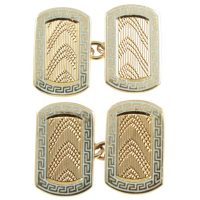 9ct gold and enamel Art Deco cuffflinks